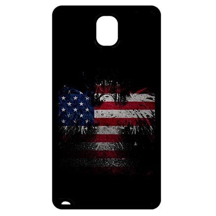Custom Coque Samsung Galaxy Note 3 N9005 Case Bald Eagle American Flag Fan Art Designed L4B5DCA