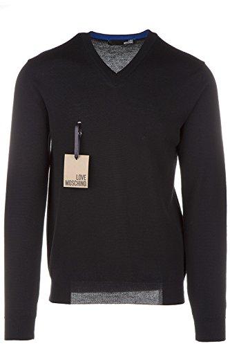 Love Moschino maglione maglia uomo collo a V nero EU M (UK 38) M S 64V 00 X 0478 40