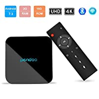 Android TV Box,Android 7.1 TV Box Amlogic S905-W 2GB 16GB Quad-Core 64 Bits HD 4K 2.4GHz+5.8GHz Wifi Bluetooth 4.1 Smart Box by Pendoo