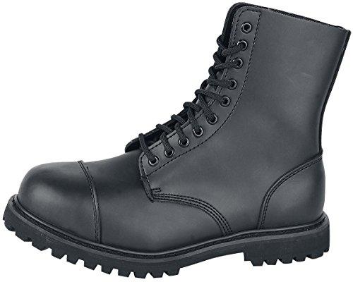 Leder Loch Stiefel Ranger Stahlkappe Schuhe Brandit 10 Phantom Schwarz 6qaPP1