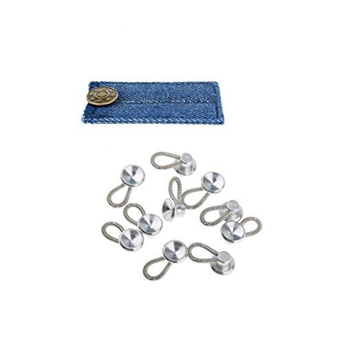 Baoblaze Metall Jeans Knopf Hose Extender Hosenerweiterung Bunderweiterung Jeans Gürtel Nähen Kleidung Zubehör