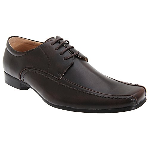 Goor Herren Gibson Schnürhalbschuhe / Schnürschuhe / Schuhe, Leder Schwarz