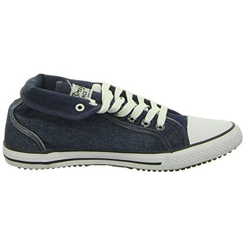 H.I.S 151-007 Herren Sneakers Washed Navy Jeans
