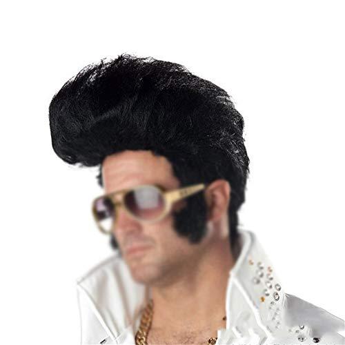 Europa und Amerika Rocky Cool Perücke, Europäischen Und Amerikanischen Herren Perücke Kurzen Lockigen Haaren Festival Dance Führen Mit Requisiten Lange Haare 1102