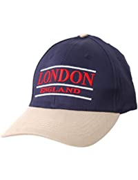 London England Embroidered Baseball Cap (Blue Beige)