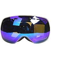 Skibrille UV400doppelte Schichten Anti-Fog kratzfestem tragen über RX Brillen, Snowboard Sonnenbrille für Männer Frauen, Herren damen unisex, violett