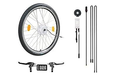 """E-Bike,Pedelec,Elektrofahrrad,Conversion Kit, 26"""" Zoll,Umbausatz mit Frontmotor, 36V 250W, LCD-Display,mit Scheibenbremsaufnahme,SCHWALBE Marathon Reifen"""