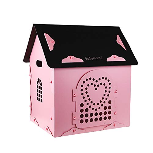 Pet Playpens Animal Fence Portable Pens for Small Animals Four Seasons Universal Pet House Max Load 38.5lbs (Color : PINK)