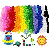 Meet The World 500 Pcs 2.5 cm Mixed Colors Round Pompom