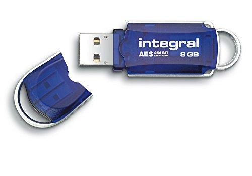 Integral Courier USB-Stick 8GB mit 256 Bit AES Verschlüsselung, FIPS 197 (Aes-verschlüsselung)