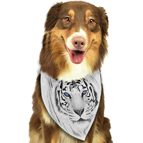 deyhfef White Tiger Neckerchief/Creative Scarf
