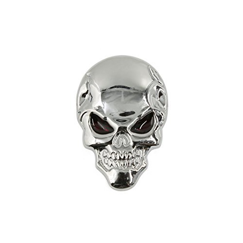 DealMux Metall 3D Schädel Knochen geformt Außen Auto dekorative Aufkleber Sliver (Dekorative Schädel)