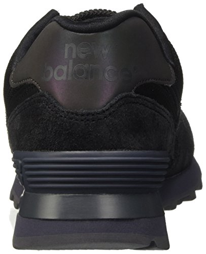 new style 612cb 08d45 New Balance 574, Baskets Basses Homme Noir Black Sneakernews ...