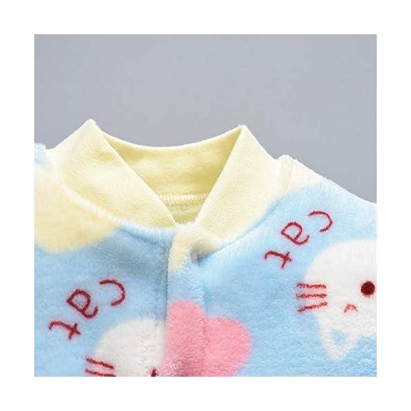 Pijama Bebe 0-18 Meses Mameluco cálido recién Nacido bebé Dibujos Animados Fleece Caliente Mono Suave Pijama de una… 3