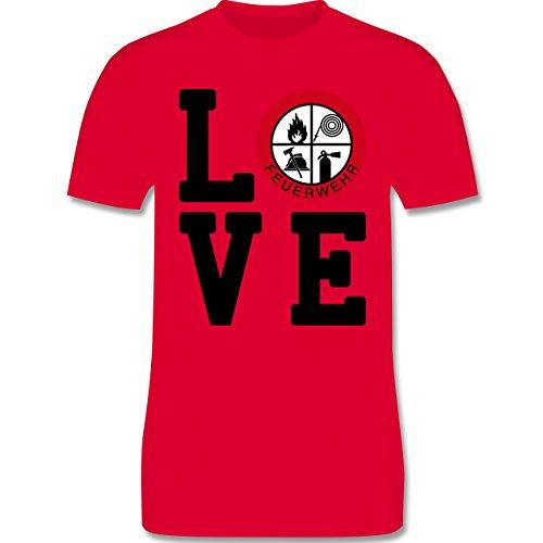 Feuerwehr - LOVE Feuerwehr - Herren Premium T-Shirt Rot