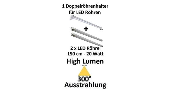 300° Ausstrahlung! 2650 Lumen 150 cm HIGH LUMEN LED-Röhre Kaltweiß 20 Watt