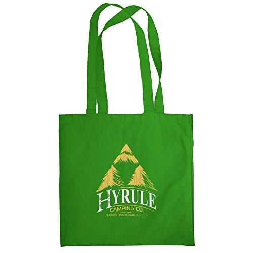 TEXLAB - Hyrule Camping Co - Stoffbeutel, grün (Co-einkaufstasche)