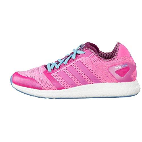 Adidas Cc rocket boost w runnig chaussures femmes noir - pink / hellblau