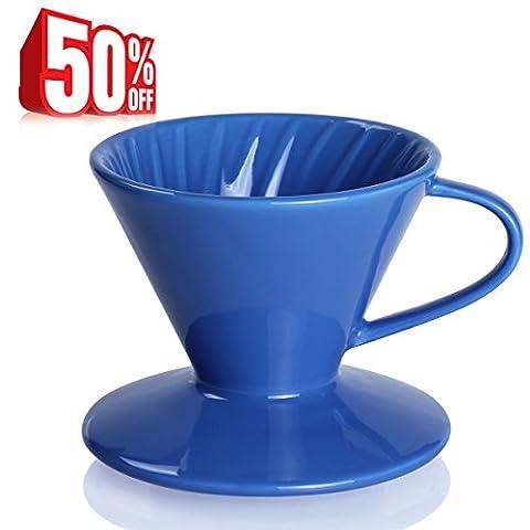 Sweese 4102 Porte-filtres à café en porcelaine noir foncé