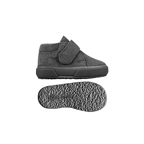 Superga S001NW0 2174-BSUJ, Chaussures montantes mixte enfant FULL GREY STONE