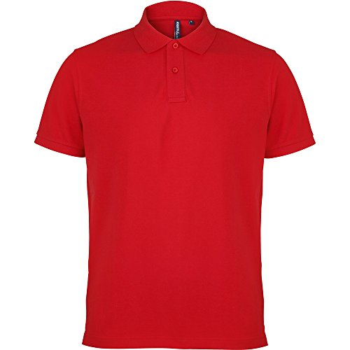 Asquith & Fox Mens Polo Shirt Red
