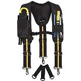 Tool Belt jarretels,Heavy Duty Elektricien Tool Riemen,Multi-Pockets Elektricien's Bag met lumbale ondersteuning voor timmerm