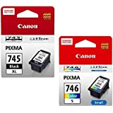 Canon Combo 745 XL and Cl 746 Small Ink Cartridge [Set of 2]  Black   Colour