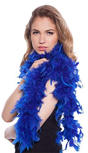 Folat 62079 - Boa de Plumas (180 cm), Color Azul