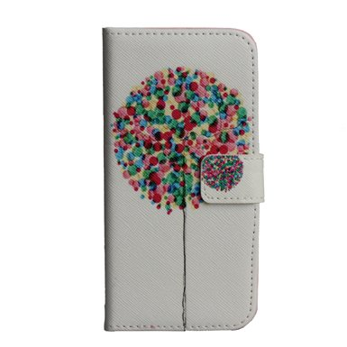 "Monkey Cases® iPhone 64,7""- Flip Case-Arbre Coloré-Premium-Original-Neuf-Sac-Tree"