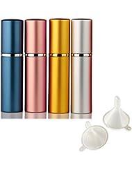 Leere Sprühflasche, portable mini nachfüllbar Parfüm Aftershave Zerstäuber 4Stk