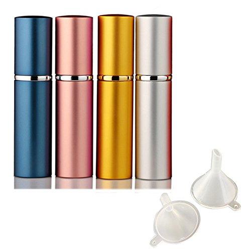 Leere Sprühflasche, portable mini nachfüllbar Parfüm Aftershave Zerstäuber 4Stk -