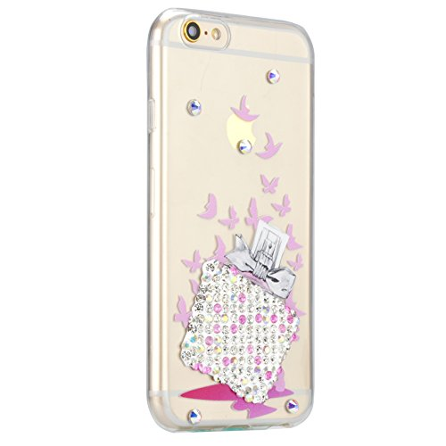 iPhone 4S Silikon Hülle,iPhone 4 Hülle,Sunroyal TPU Case Schutzhülle Silikon Crystal Kirstall Bling Diamant Clear Case Durchsichtig,Gelb Mädchen Malerei Muster Transparent Weichem Silikon Schutzhülle  Pattern 14