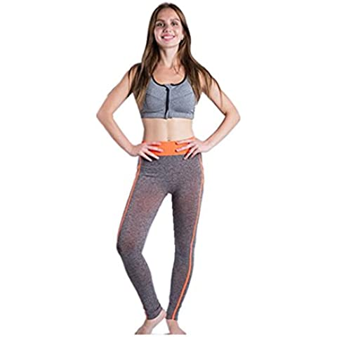 Dachou Mujeres Deportes pantalones de gimnasia atlética Leggings Yoga Fitness Workout pantalones apretados A