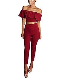 Zweiteiliges Outfit mit Carmenshirt und Legging
