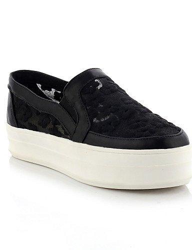 Chaussures Femme Shangyi - Mocassins - Formel - Plateau / Bout Arrondi - Plateau - Similicuir - Noir / Rose / Blanc Noir