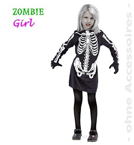 narrenwelt Zombie Girl 1tlg Kleid PB 1568 Halloween Mädchen Kostüm Fasching Gr. ()