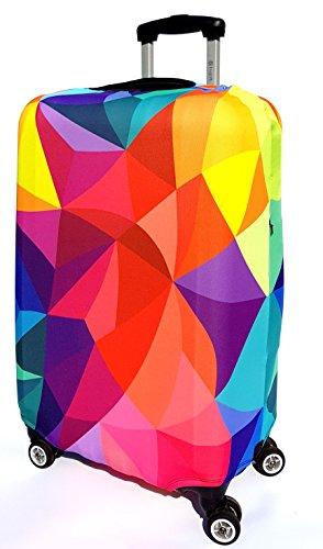 TakeCover elastische Kofferschutzhülle Kofferschutzbezug extra dick Gepäckschutz Kofferbezug Kofferhülle Luggage Cover Koffer Hülle Schutzbezug mit Reißverschluss (Bunt, L)