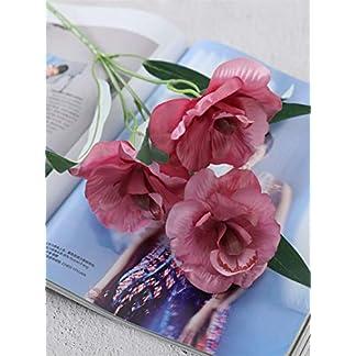 Bureze Flores Artificiales de gladiolos Artificiales de la Marca, decoración de Boda, Oficina, Boda, Navidad, Flores Falsas de Seda