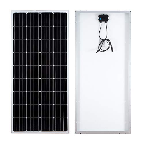 Este panel solar tiene varios usos que incluyen aplicaciones marinas, campamentos secos y otras aplicaciones fuera de la red. El panel está diseñado para soportar fuertes nevadas y vientos. La parte posterior del panel cuenta con una caja de conexion...