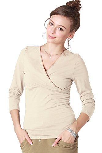 ST6008 Cache-coeur de grossesse et d'allaitement en coton white