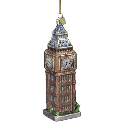 Noble Gems Kurt Adler Big Ben, Christbaumschmuck aus Glas (13,97 cm) -