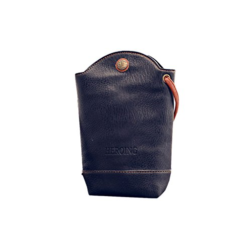 VJGOAL Damen Schultertasche, Frauen Mädchen Mode Schlank Crossbody Messenger Schultertasche Kleine Körper Mini Taschen Frau Geschenk (11*6*20cm, Schwarz) (Mini-rucksack Graue)