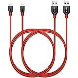 Anker PowerLine+ Lightning Kabel [2-Pack] 1,8m Apple iPhone iPad Ladekabel Lebenslange Garantie [Aramidfasern & Doppleter Nylonummantelung] für das iPhone X/ 8/ 8 Plus/ 7/ 7 Plus/6s/ 6/ 6 Plus/ 5s/ 5/iPad und mehr (Rot)