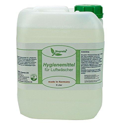Biopretta 5 Liter Kanister Hygienemittel für Luftwäscher Luftreiniger Luftbefeuchter Raumklimaverbesserer -
