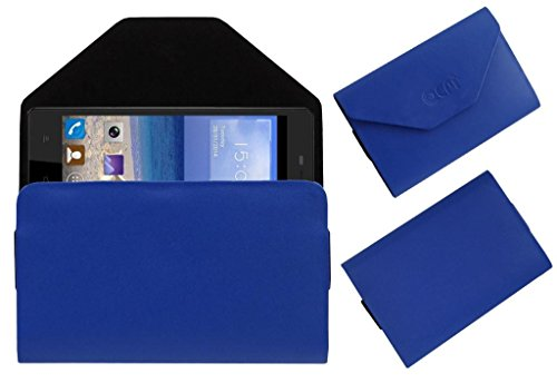 Acm Premium Pouch Case For Gionee M2 Flip Flap Cover Holder Blue  available at amazon for Rs.329