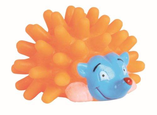 Balle hérisson, vinyle, 7 cm avec son, pour chien