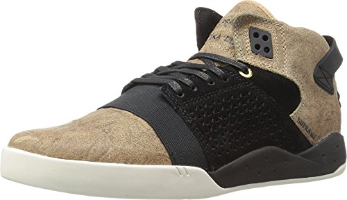 Supra Kids Enfants Vaider Burgundy Blanc Rawhide Leather