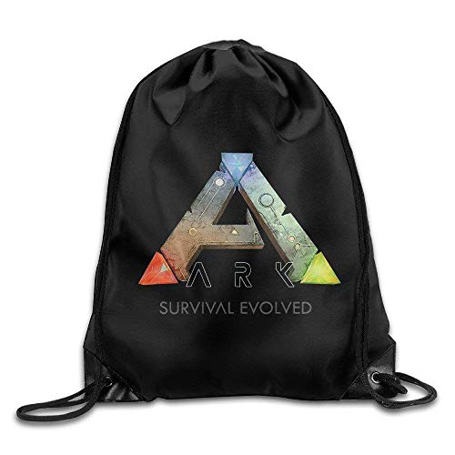 Liumiang Turnbeutel,Sporttaschen,Eco-Friendly Pirnt Ark Survival Evolved ARPG Game Logo Exotic Drawstring Backpack Sport Bag (Favor Mickey Bag)