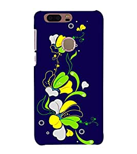 Fiobs Green Abstract Color Flowers Designer Back Case Cover for Huawei Honor 8