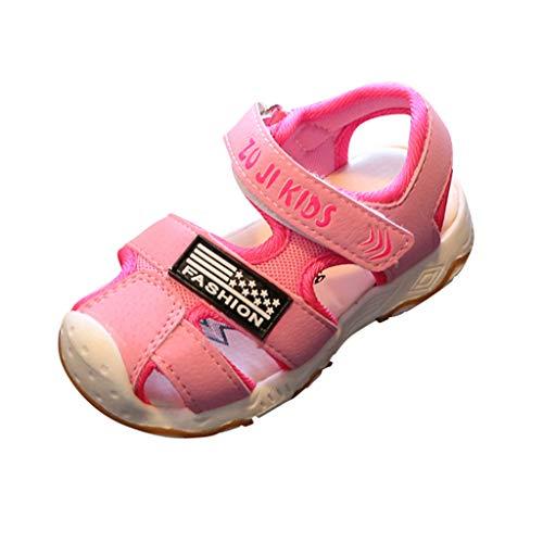 feiXIANG Jungen Mädchen Sandals Sommer Niedlichen Schuhe Turnschuhe Kinder Baby Strandschuhe Sommer(Rosa,28)